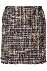 Karl Lagerfeld Metallic Boucle Tweed Mini Skirt Black