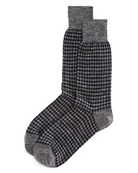 Bloomingdale's The Men's Store At Houndstooth Socks Charcoal
