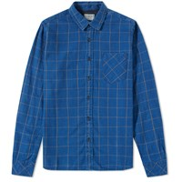 Nudie Jeans Henry Flannel Shirt Blue