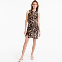 J.Crew Petite Shift Dress In Leopard Print