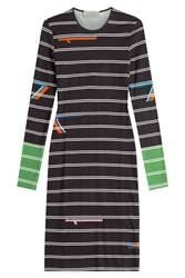 Preen By Thornton Bregazzi Striped Jersey Dress Multicolor