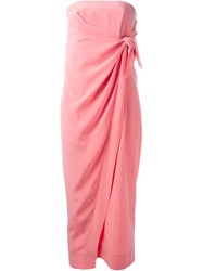 Ca Dric Charlier Strapless Dress Pink And Purple