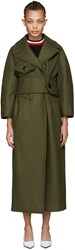 Marni Green Wool Military Coat