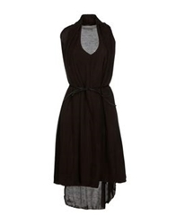 Prim I Am Short Dresses Dark Brown