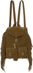 Saint Laurent Brown Suede Small Festival Backpack