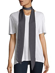 Saks Fifth Avenue Solid Scarf Black