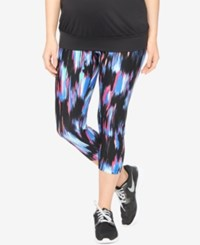 Motherhood Maternity Skinny Cropped Leggings Multi Print