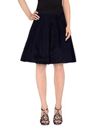 Erika Cavallini Semi Couture Erika Cavallini Semicouture Skirts Knee Length Skirts Women Dark Blue