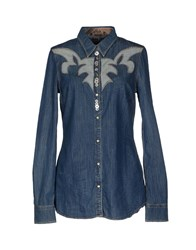 We Are Replay Denim Denim Shirts Women Blue