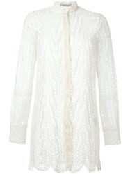 Valentino Lace Blouse Nude And Neutrals