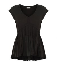 Claudie Pierlot Tribord Pleated T Shirt Female Black