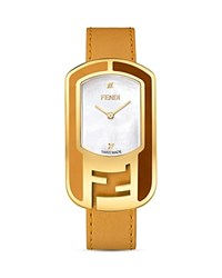 Fendi Chameleon Watch 29Mm Yellow Gold White Noce Sunflower