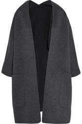 Vince Reversible Wool And Cashmere Blend Cardigan Gray