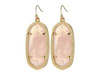 Kendra Scott Elle Earring Gold Rose Quartz Earring