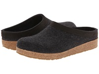 Haflinger Gzl Leather Trim Grizzly Charcoal Clog Shoes Gray