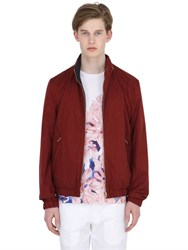 Larusmiani Reversible Silk Satin Bomber Jacket