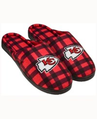 Forever Collectibles Kansas City Chiefs Flannel Slide Slippers Red