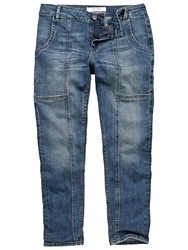 Fat Face Carpenter Ankle Grazer Trousers Denim
