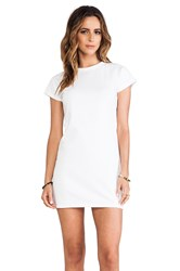 Elliott Label Baseball Mini Dress White