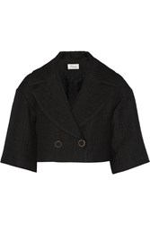 Temperley London Marino Cropped Matelasse Jacket Black