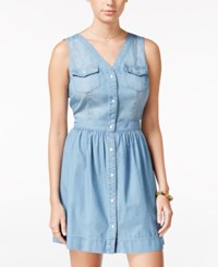 American Rag Snap Front Chambray Dress Only At Macy's Odeda Wash