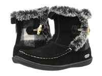 Woolrich Pine Creek Black Black And White Buffalo Check Wool Women's Boots