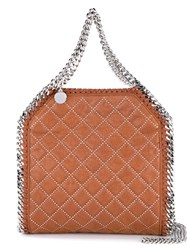 Stella Mccartney Mini Bella Quilted Faux Leather Bag Brown