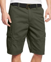 American Rag Belted Relaxed Cargo Shorts