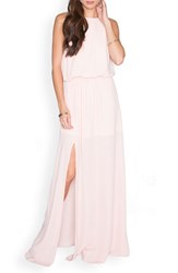 Show Me Your Mumu Women's 'Heather' Halter Gown Frosty Pink Crisp