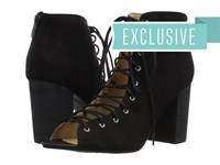 Chinese Laundry Blue Ridge Black Micro Suede High Heels