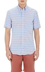 Gitman Brothers Vintage Men's Striped Short Sleeve Shirt Blue