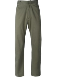 E. Tautz Classic Chino Trousers Green