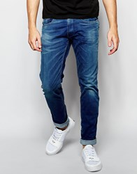 Replay Jeans Anbass Slim Fit Superstretch Ecoplus Mid Wash Blue