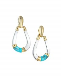 Alexis Bittar Lucite Colorblocked Teardrop Earrings Clear