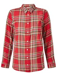 Levi's Modern One Pocket Check Shirt Lemon Rococco Red Plaid