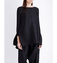Issey Miyake Pleats Please Edgy Bounce Pleated Top Black