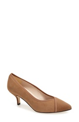 Andre Assous Andre Assous 'Chloe' Pointy Toe Pump Women Taupe Suede