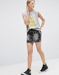 Cheap Monday Spray Skirt Dark Grey