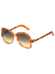 Yves Saint Laurent Vintage Oversize Square Frame Sunglasses Brown