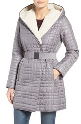 Kenneth Cole Women's New York Faux Shearling Lined Puffer Coat
