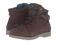 The North Face Ballard Roll Down Se Demitasse Brown Tapestry Blue Women's Lace Up Boots