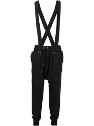 Balmain Strap Sweat Pants Black
