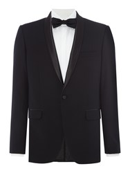Farah Men's Arnos Fancy Skinny Fit Shawl Collar Tuxedo Black
