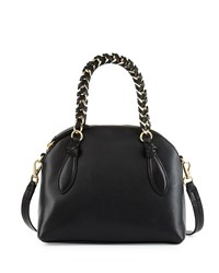 Foley Corinna Tiggy Leather Crossbody Bag Black