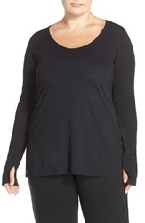 Yummie Tummie Plus Size Women's By Heather Thomson Long Sleeve Jersey Tee