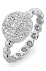 Women's Bony Levy Diamond Pave Circle Ring White Gold