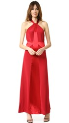 Jill Stuart High Neck Gown Redwood