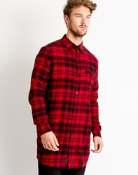 Cheap Monday Hid Check Shirt Red