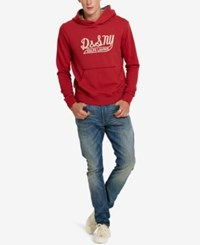 Denim And Supply Ralph Lauren Men's French Terry Graphic Print Hoodie Red