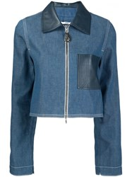 Edun Denim Cropped Jacket Blue